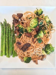 Roasted Teriyaki Mushrooms&Broccoli Soba Noodles Insta 2