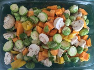 Roasted Veggie Salad w Avocado Dressing 1