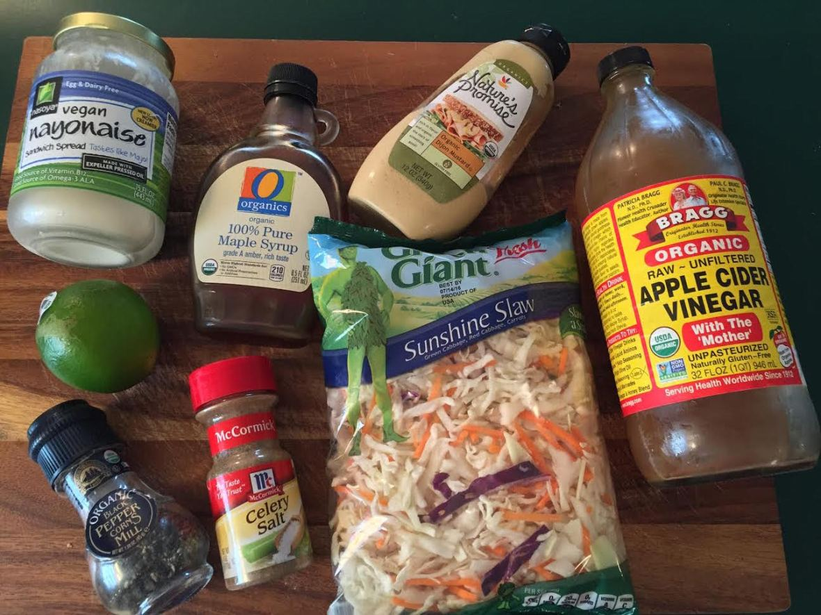 Creamy Lime Slaw Ingredients