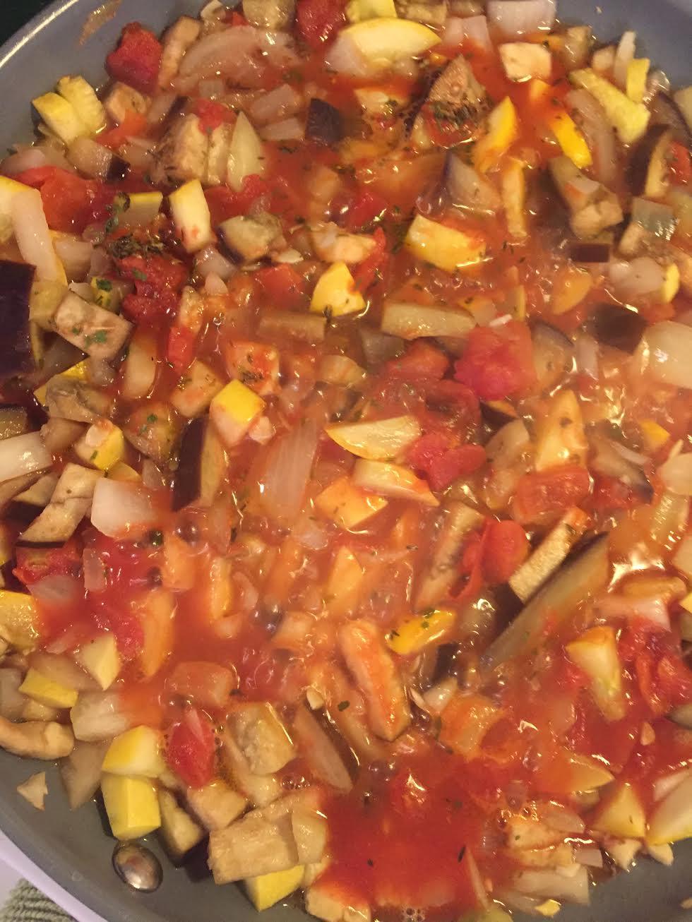 Penne Pasta Casserole Veggies