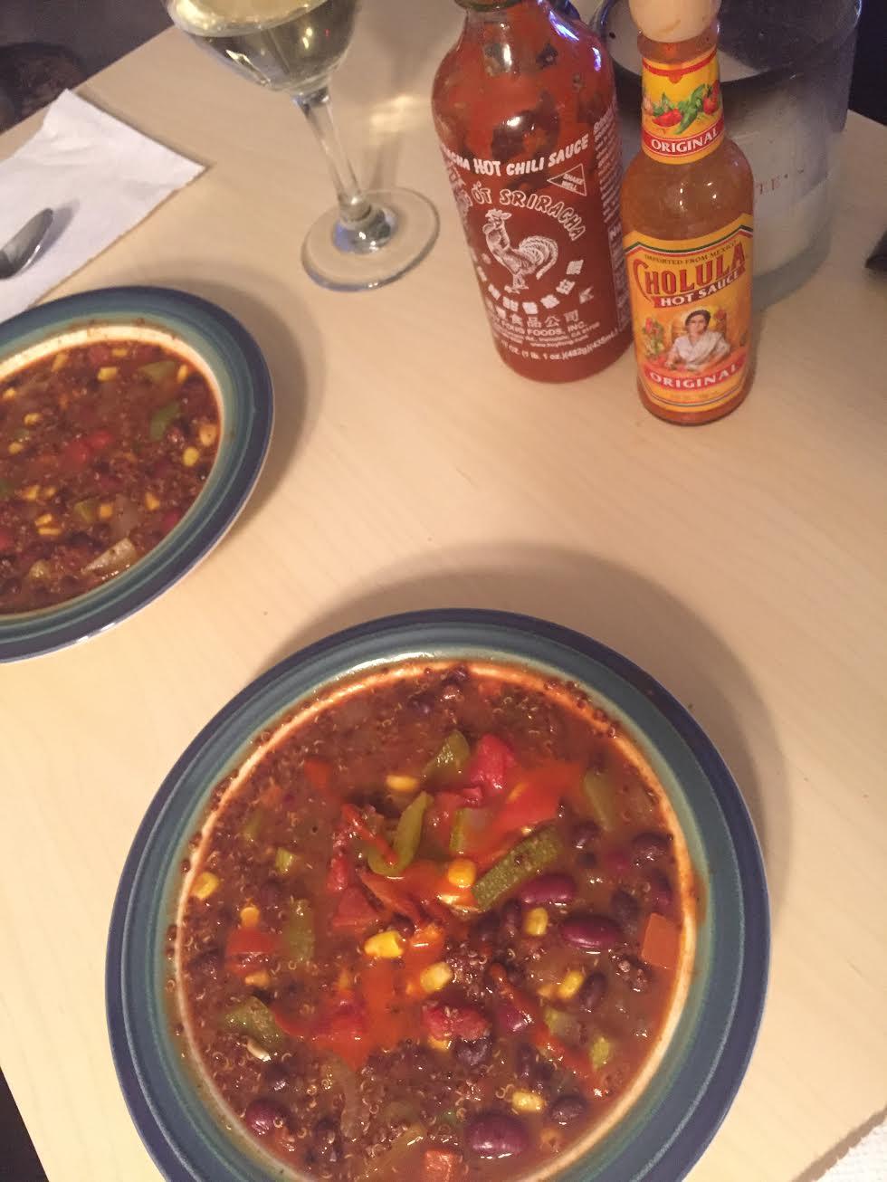 Quinoa Chili Dinner For Two