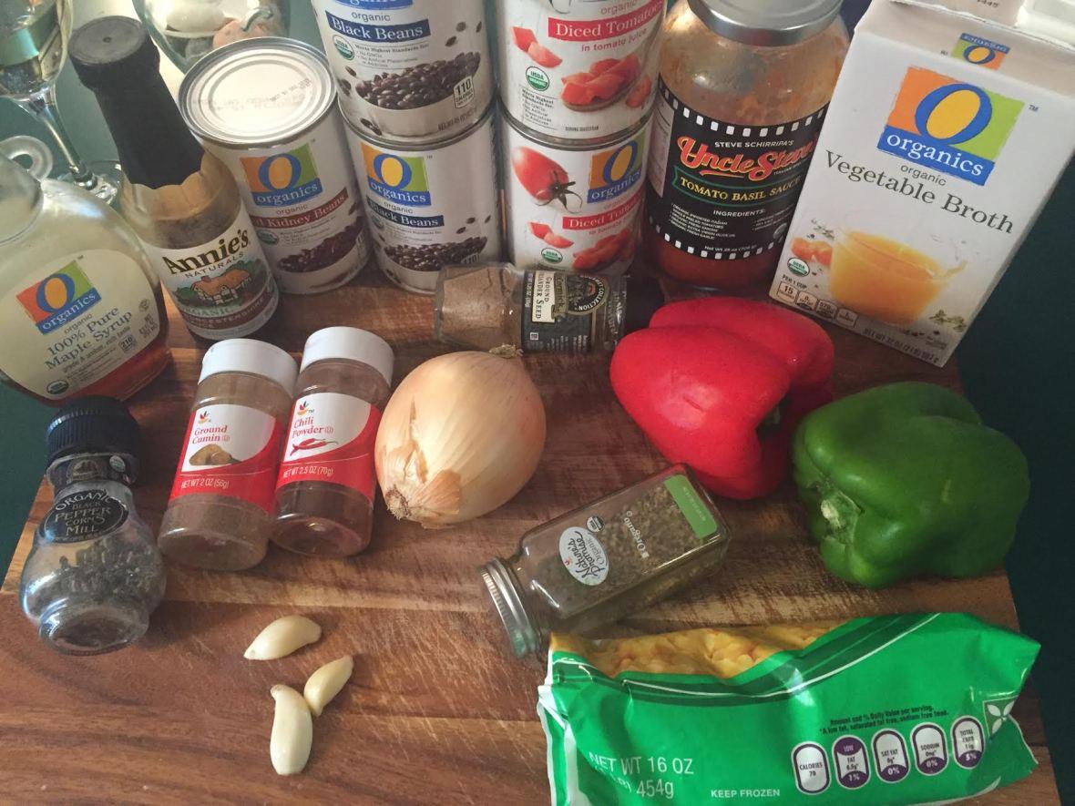 Quinoa Chili Ingredients