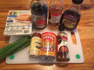 Sesame Tofu Stir Fry Ingredients
