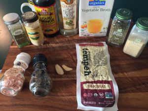 Tempeh Gyro Ingredients
