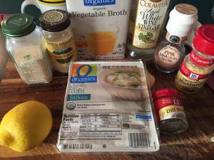 Tofu Tzatziki Ingredients