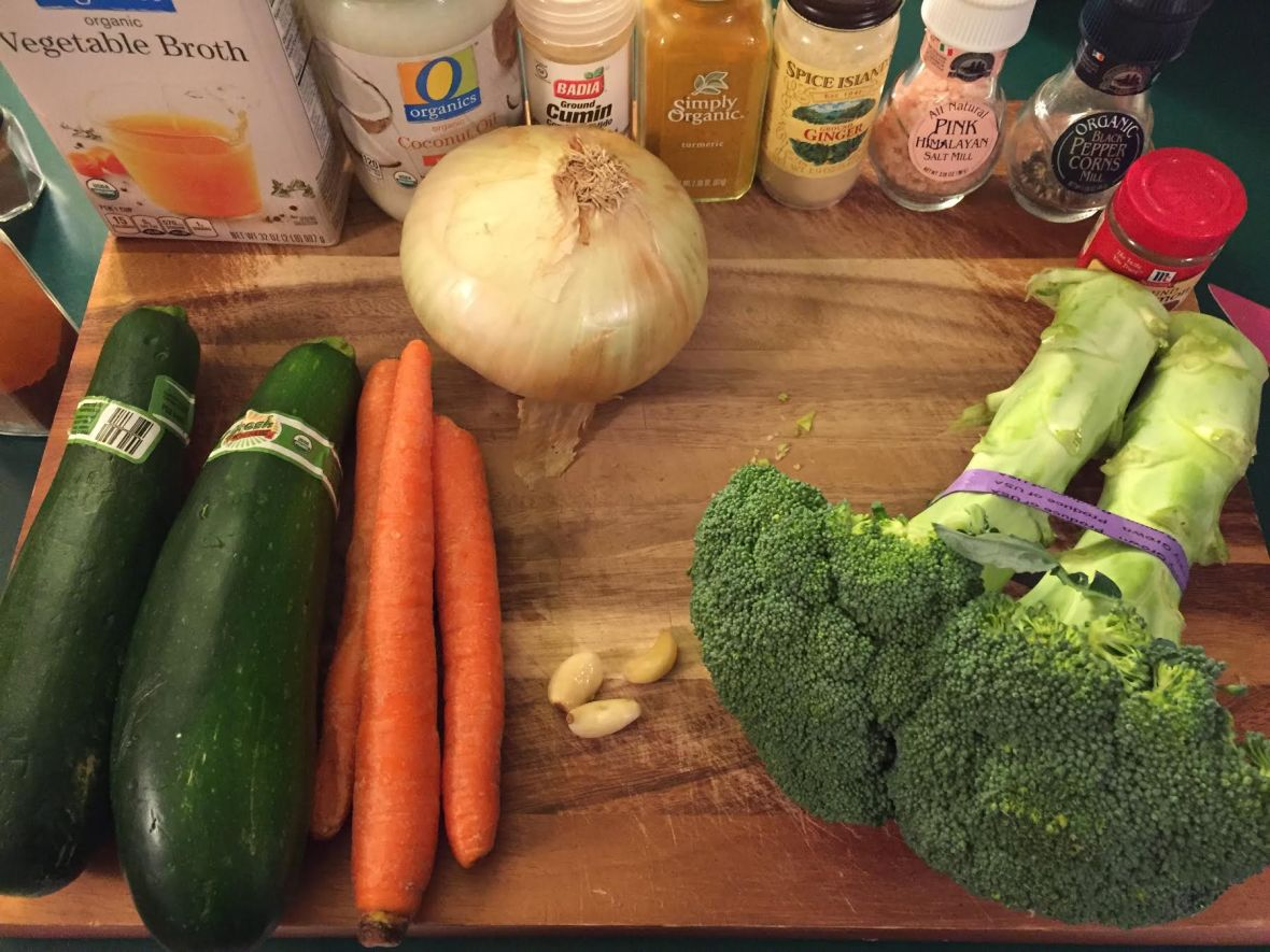 Moroccan Detox Soup Ingredients