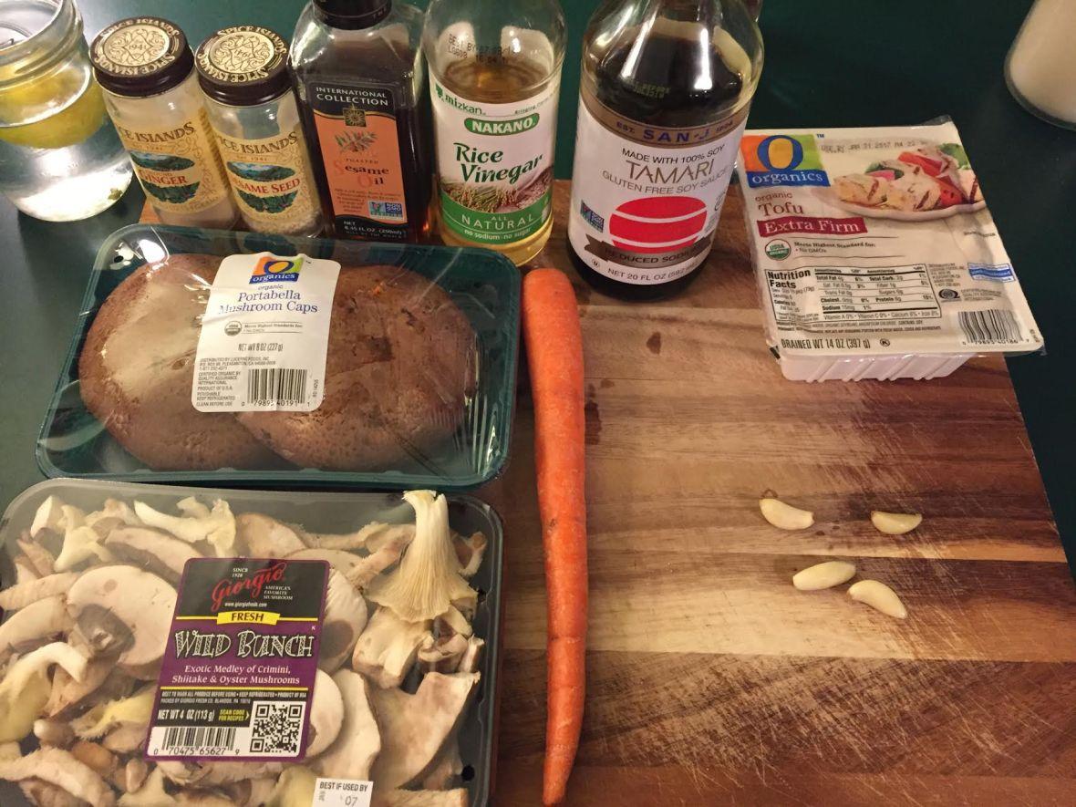 Mushroom Lettuce Tofu Cups Ingredients