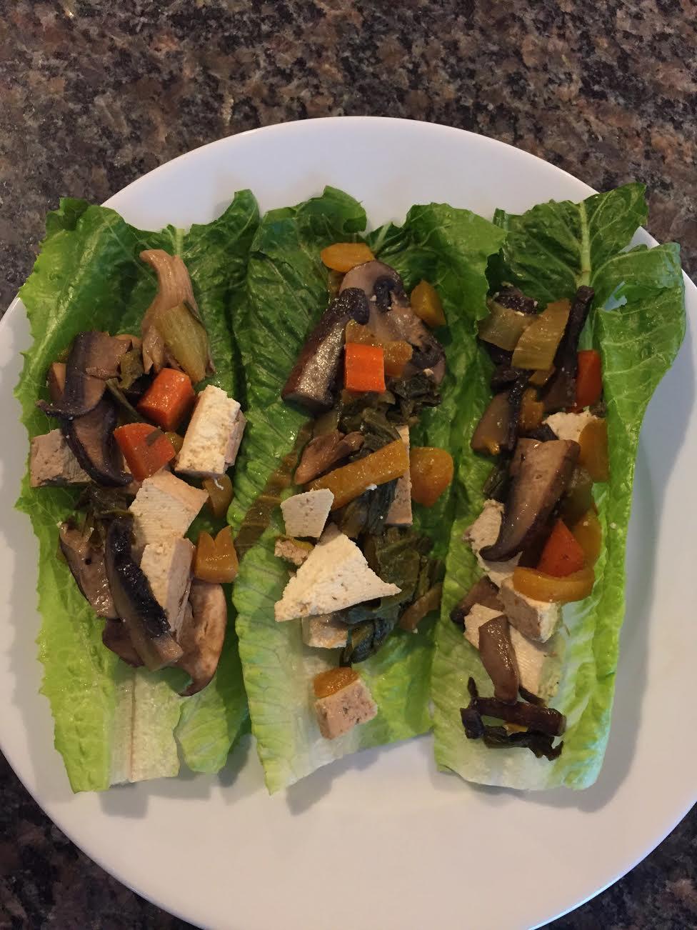 Mushroom Tofu Lettuce Cups Insta