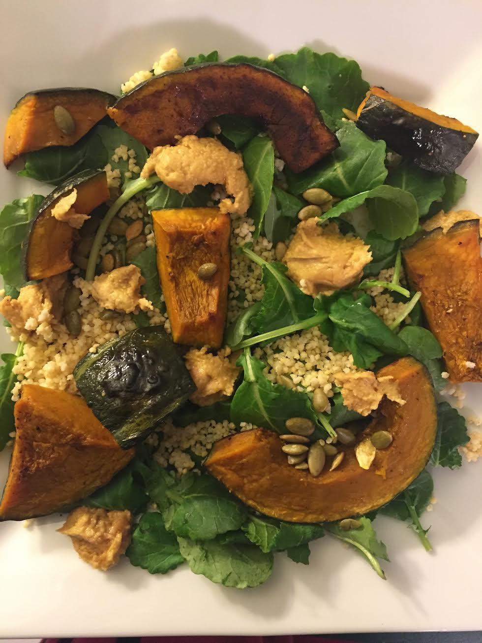 Squah, Millet, & Kale Salad Insta