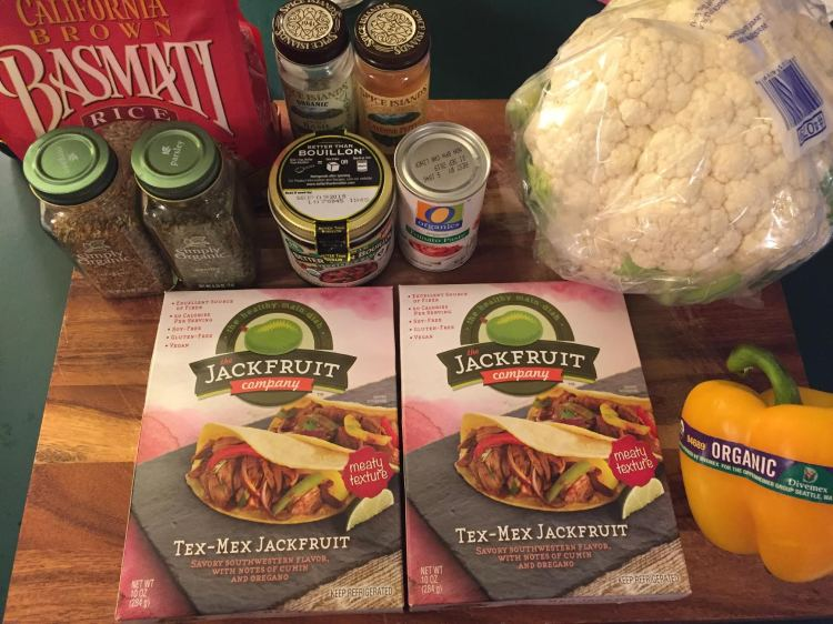 Jackfruit Jambalaya Ingredients 1