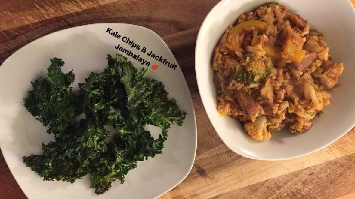 Kale Chips & Jambalya from story