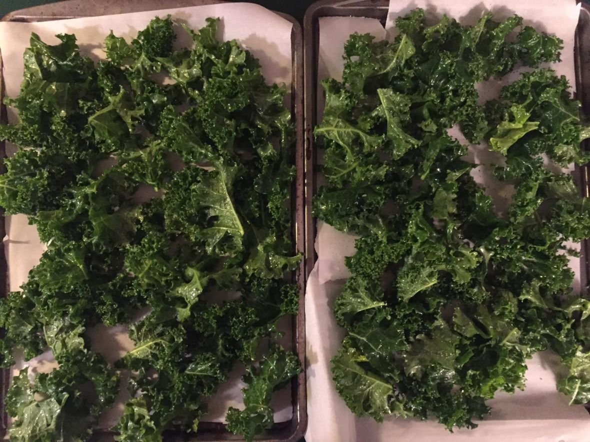 Kale Chips Pre Oven