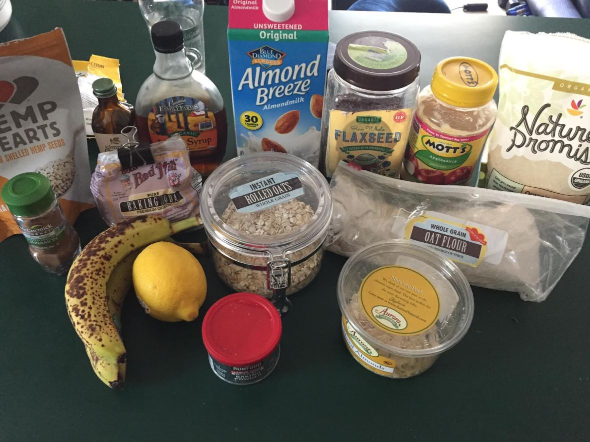 Blueberry Banana Power Muffins Ingredients