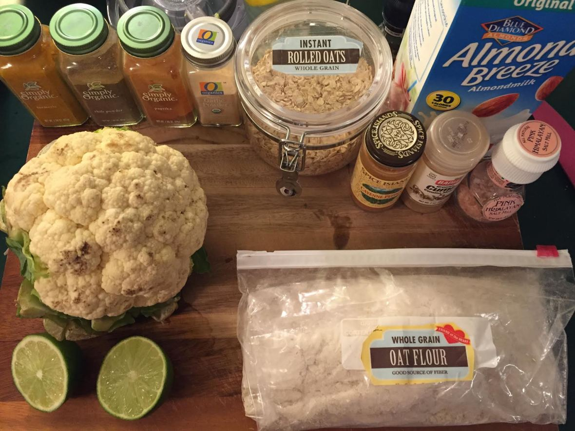 Crispy Cauliflower Tacos Ingredients