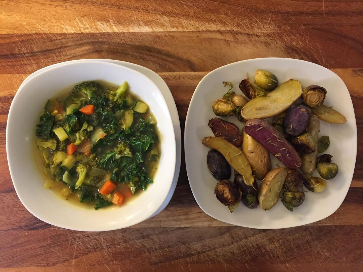 Eat Your Greens Detox Soup w Brussel Sprouts & Fingerling Potatoes Insta