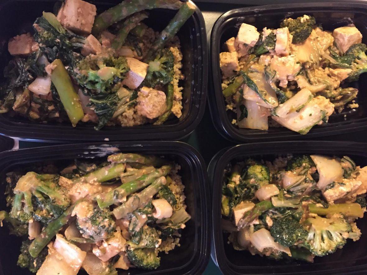 Pra Ram Tofu (Thai Peanut Sauce) Meal Prep