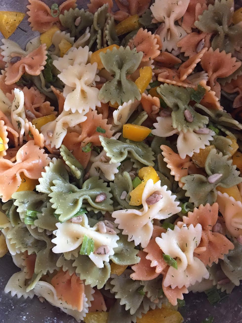 Bells & Bows Pasta Salad Insta