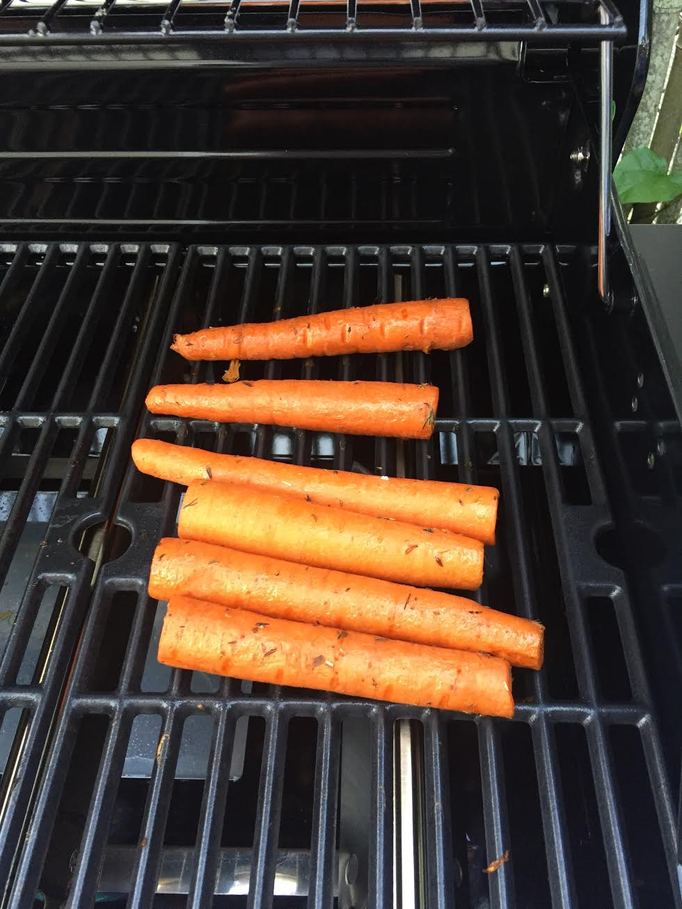 Carrot Dogs On Grill
