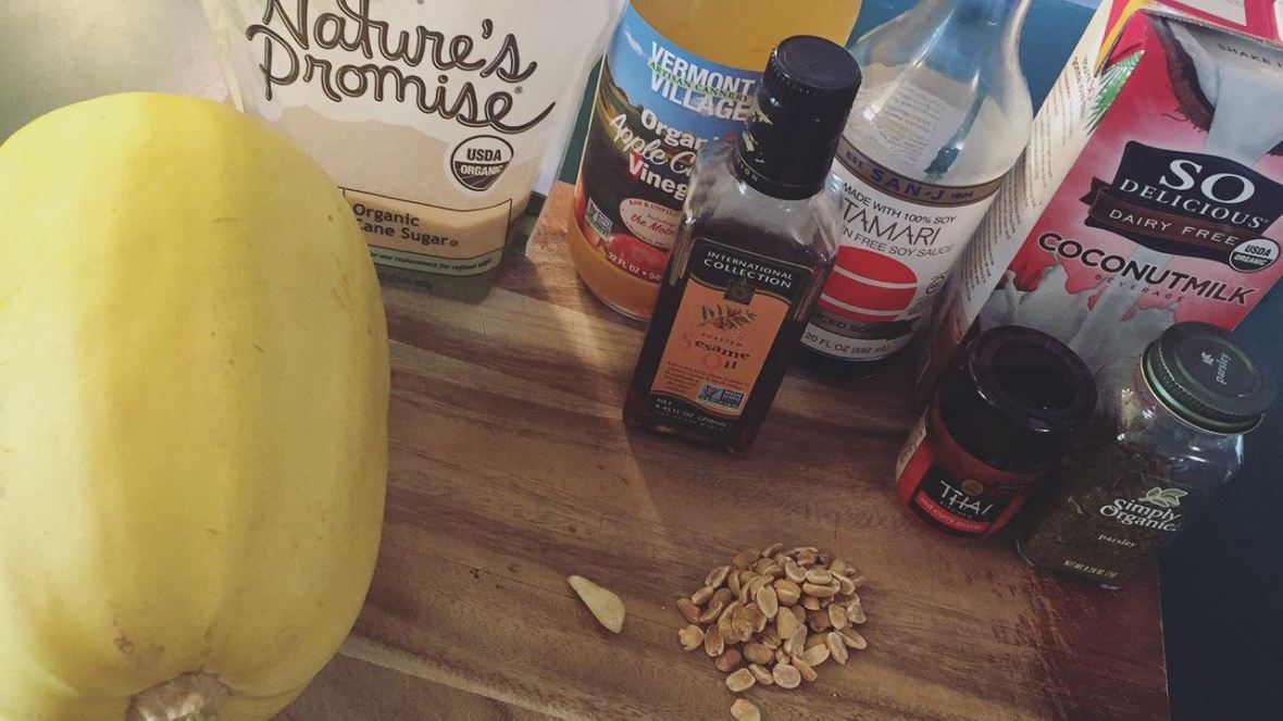 Thai Peanut Spaghetti Squash Ingredients