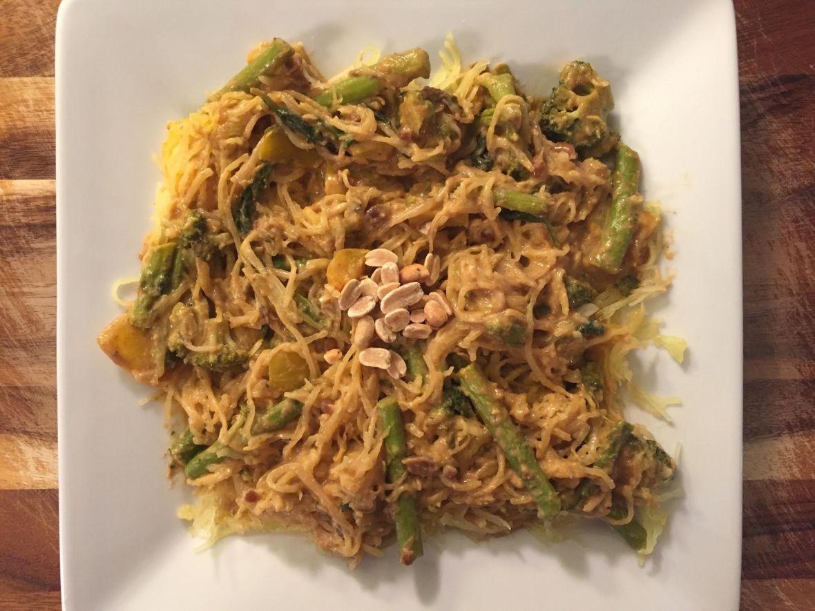 Thai Peanut Spaghetti Squash Insta