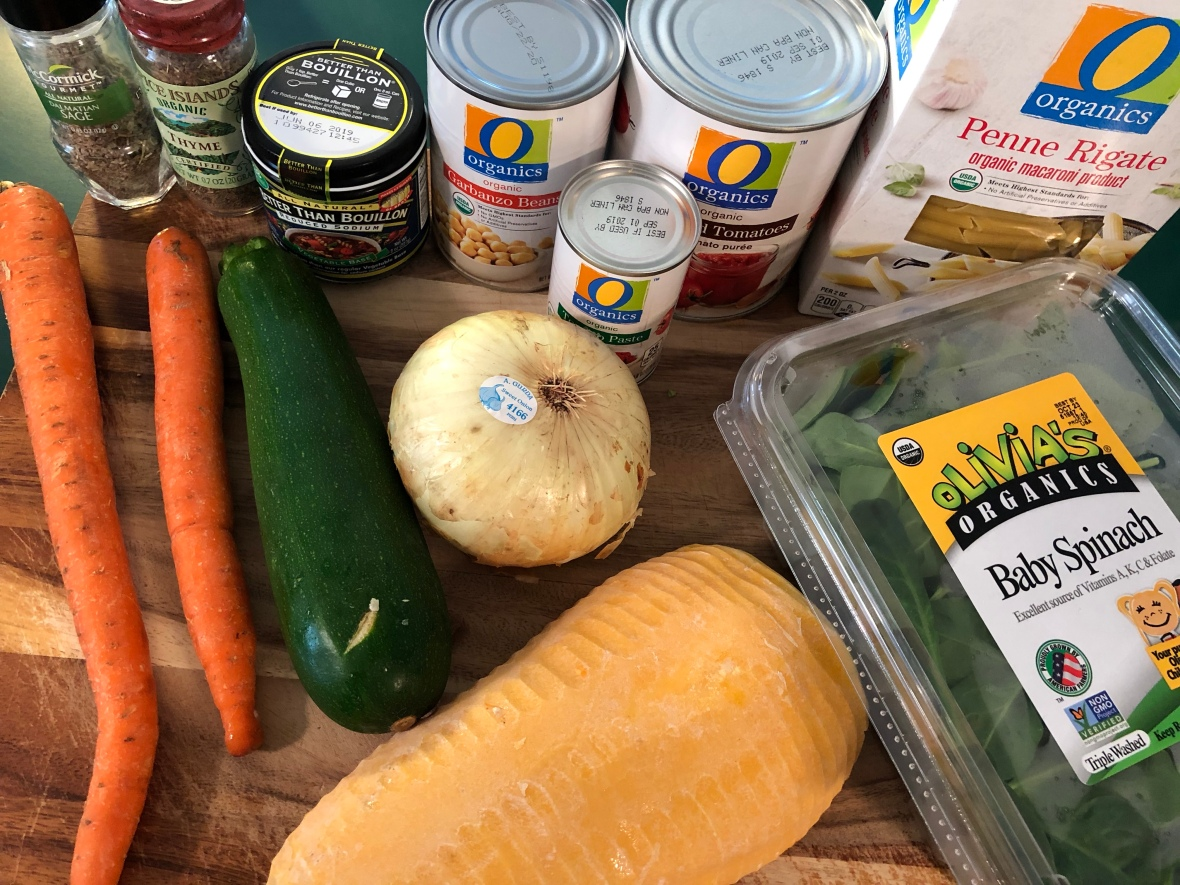 Butternut Squash Minestrone Ingredients