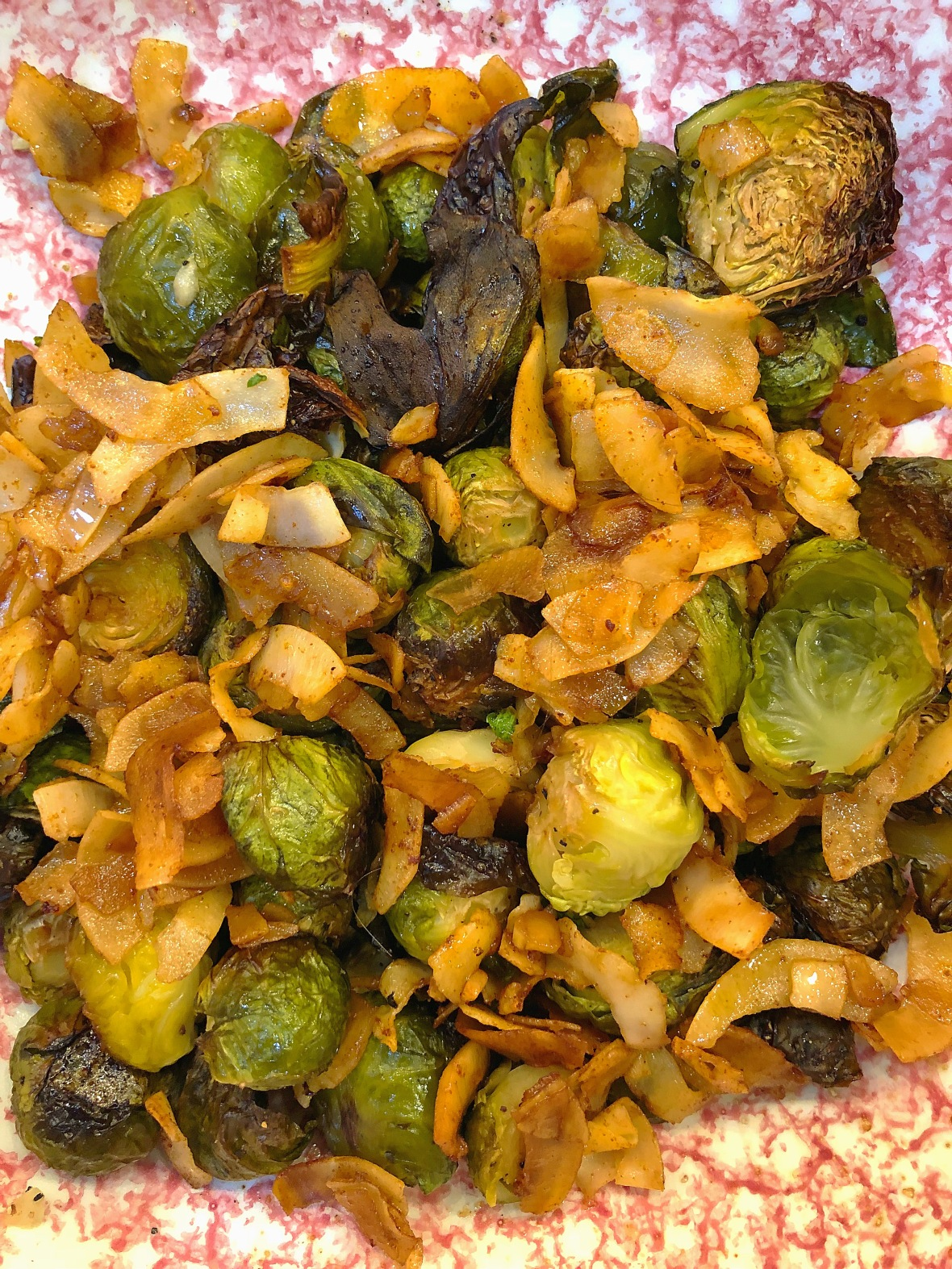 Roasted Brussel Sprouts & Coconut Bacon Insta
