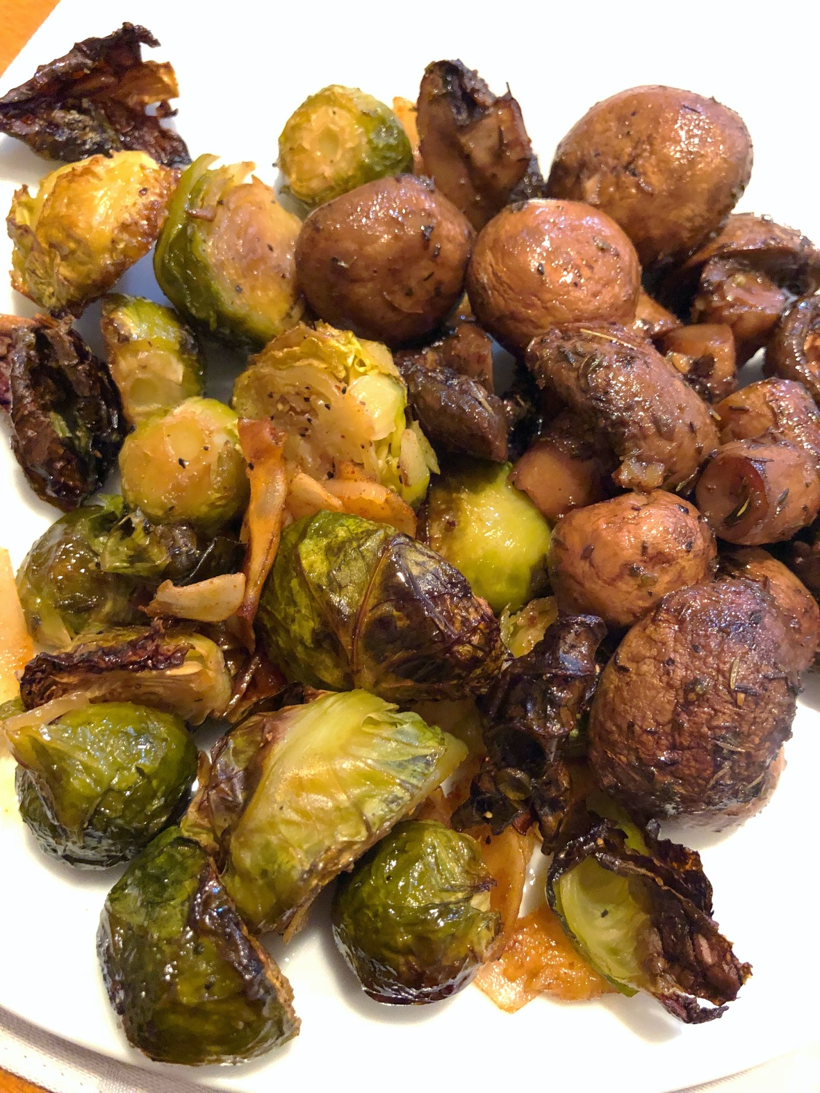 Stuffed Mushrooms & Roasted Brussel Sprouts NYE