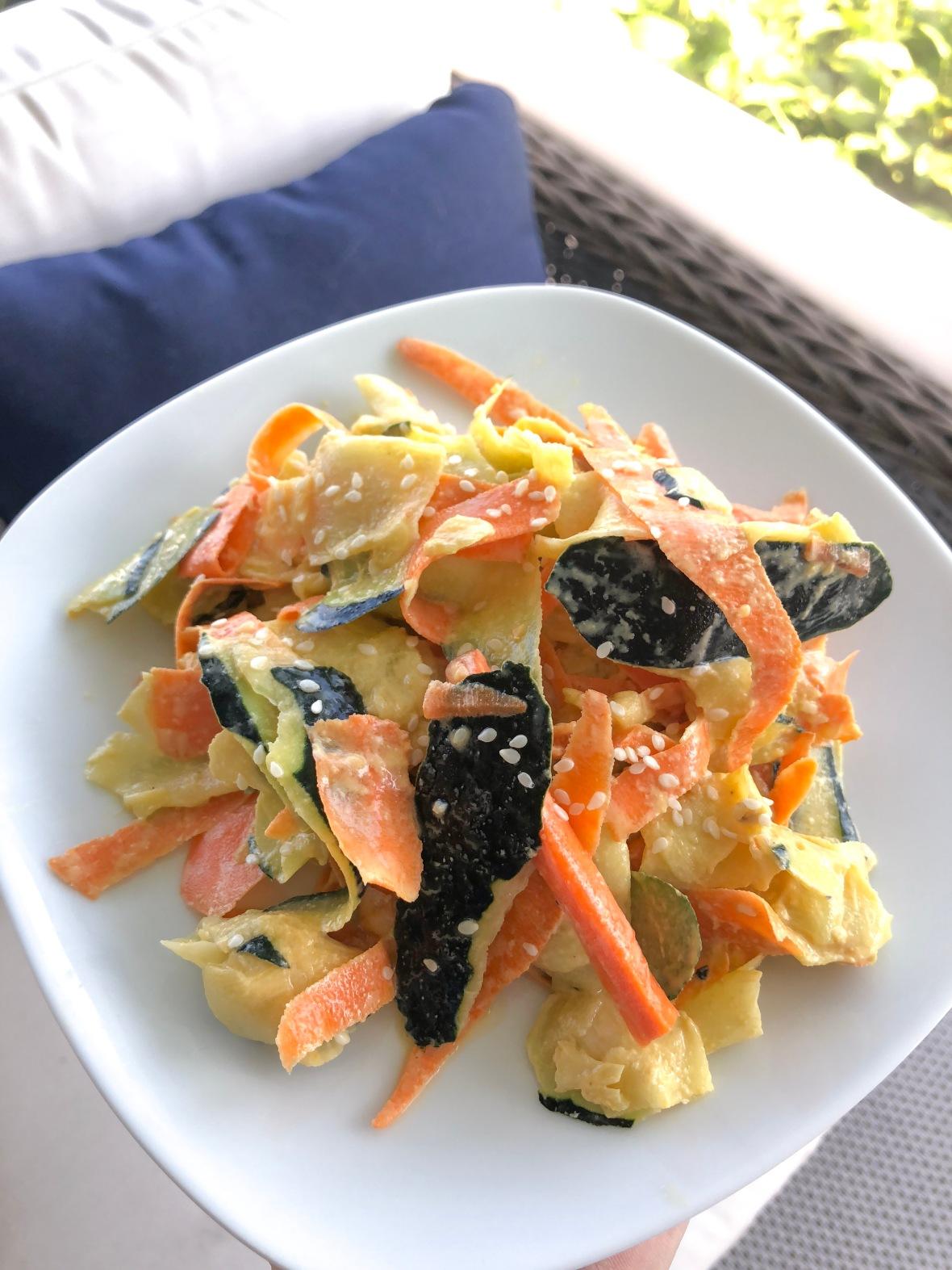 Zucchini & Carrot Tahini Salad Insta