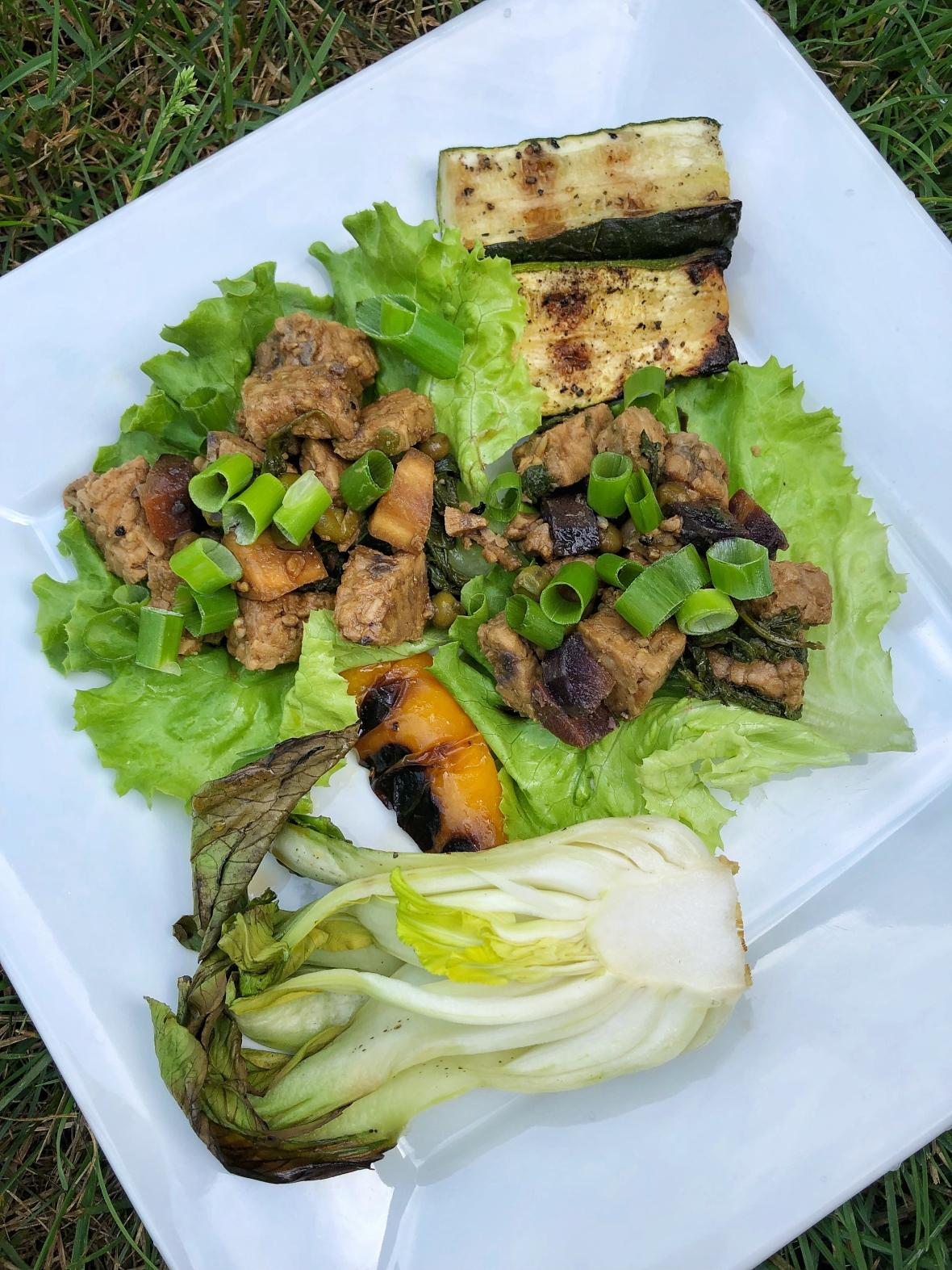 teriyaki tempeh lettuce wraps insta
